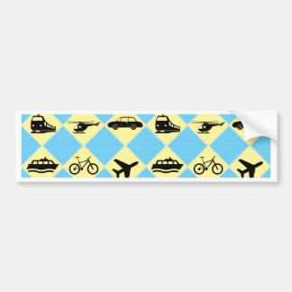 Travel Ride Car Bumper Sticker