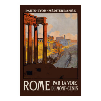 Travel Rome 1920s Vintage Reissue 36 x 24 Poster