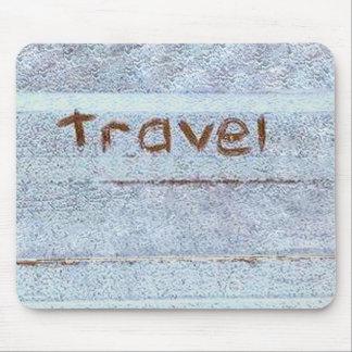 Travel rustic blue bohemian mouse pad