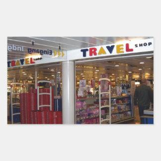 Travel Shop Rectangular Sticker