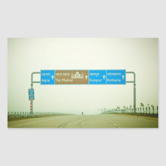 Travel Sign Rectangle Stickers