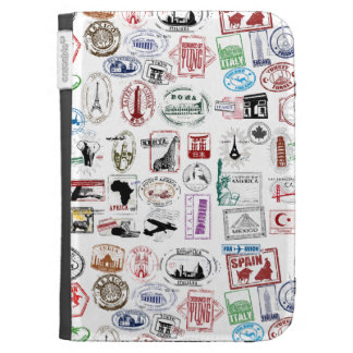 Travel Stamps Pattern Case For The Kindle