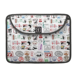 Travel Stamps Pattern Case Sleeve Sleeves For MacBook Pro