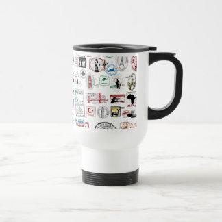 Travel Stamps Pattern Travel Mug