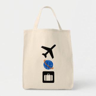 Travel Symbols Canvas Bag