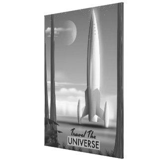 Travel the Universe Mono ( limited edition print) Canvas Print