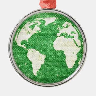 Travel the world christmas ornament