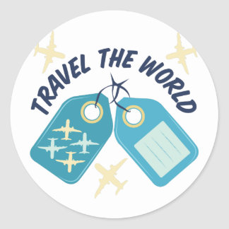 Travel The World Classic Round Sticker