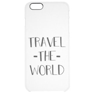 Travel The World Clear iPhone Case
