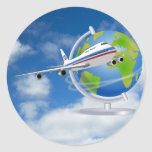 Travel the World Round Sticker