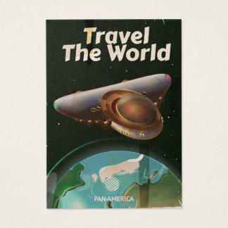 Travel the World Science fiction vintage poster