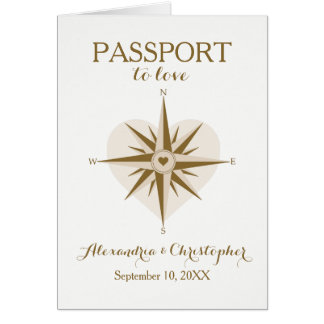 Travel Theme Folded Passport Invitation