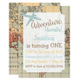 Travel Themed Birthday Invite
