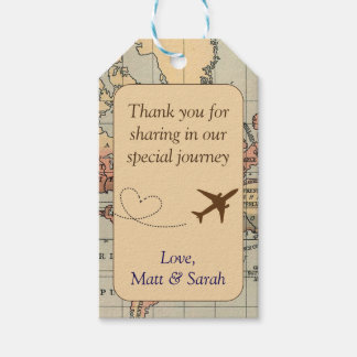 Travel Themed Party Favour Tag- Vintage Wedding
