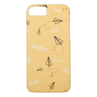 Travel Themed Phone Cases-Yellow iPhone 8/7 Case