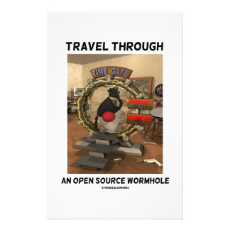 Travel Through An Open Source Wormhole Time Travel Custom Stationery