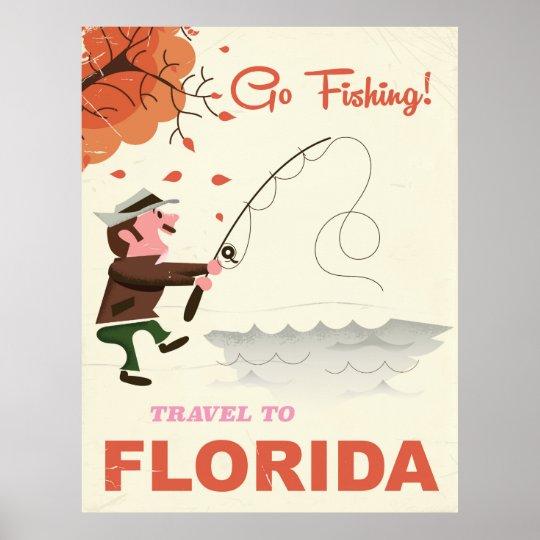 Travel to Florida vintage fishing print