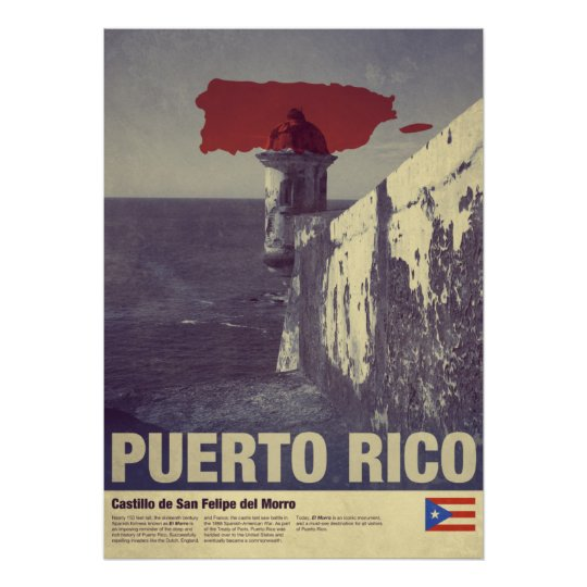 Travel to Puerto Rico: El Morro Poster