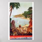 Travel to Santa Margherita Ligure Italy Poster