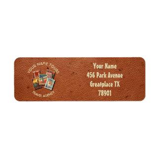 Travel Tours Agency Vintage Postcards Custom Name Return Address Label