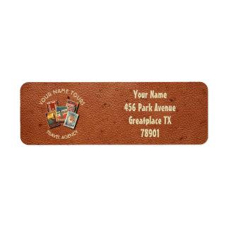 Travel Tours Agency Vintage Postcards Custom Name Return Address Label