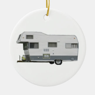 Travel Trailer Vintage 60's Christmas Ornament