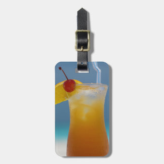 Travel Tropical Cocktail with Cherry Luggage Tag