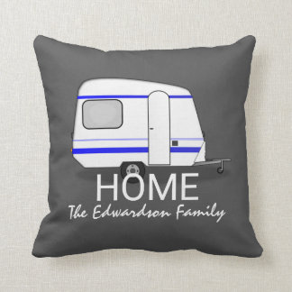 Travel vacation caravan Home Family monogram Cushion