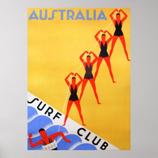 Travel Vintage Australia Poster Posters