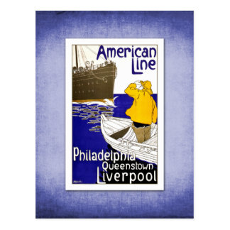 Travel Vintage Poster Ship Travel Post Cards