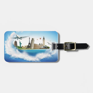 Travel wave luggage tag