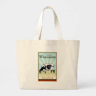 Travel Wisconsin Large Tote Bag