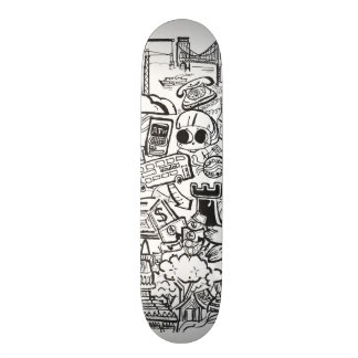 Travel with Pen Skate Board Deck