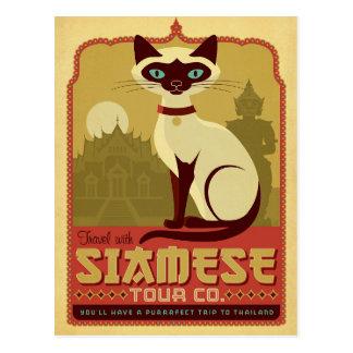 Travel with Siamese Tour Co. Postcard