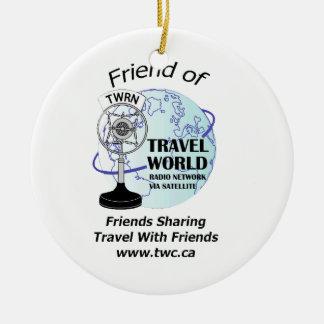 Travel World Radio Show Christmas Ornament!