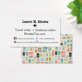 Travel Writer/ Blogger Stamp Themed Cards