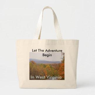Travel WV Large Tote Jumbo Tote Bag