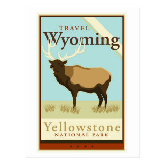 Travel Wyoming Postcard
