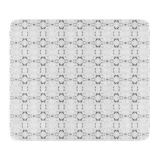 'Traveled' Black and White Pattern Cutting Board