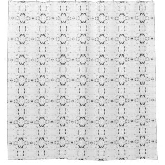 'Traveled' Black and White Pattern Shower Curtain