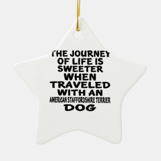 Traveled With A American Staffordshire Terrier Lif Christmas Ornament