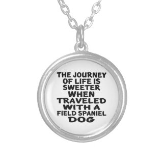 Traveled With A Field Spaniel Life Partner Silver Plated Necklace