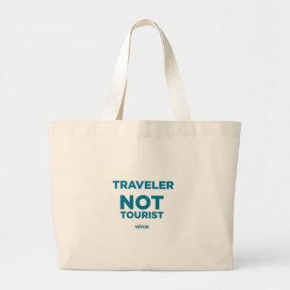 Traveler Not Tourist Tote Jumbo Tote Bag