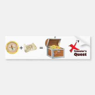 Traveler's Quest: Navigator + Map = Treasure Bumper Sticker