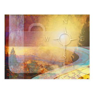 Travelight Vibrant Gold Postcard