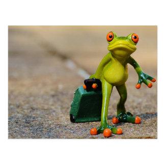 Traveling Frog Postcard
