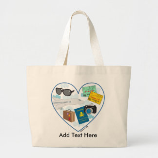 Traveling Heart Tote Bag