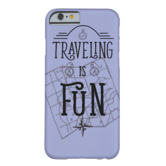 Traveling is fun retro vintage travel quote barely there iPhone 6 case