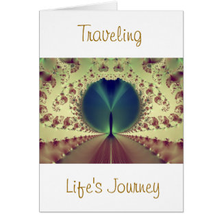 Traveling Life's Journey Greeting Card