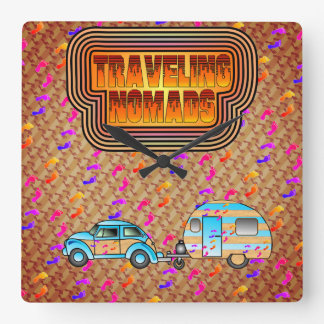Traveling Nomads Clock